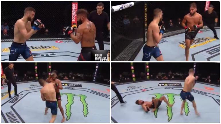 Видео: техническим нокаутом одолел Стивенса Каттар на турнире UFC 249