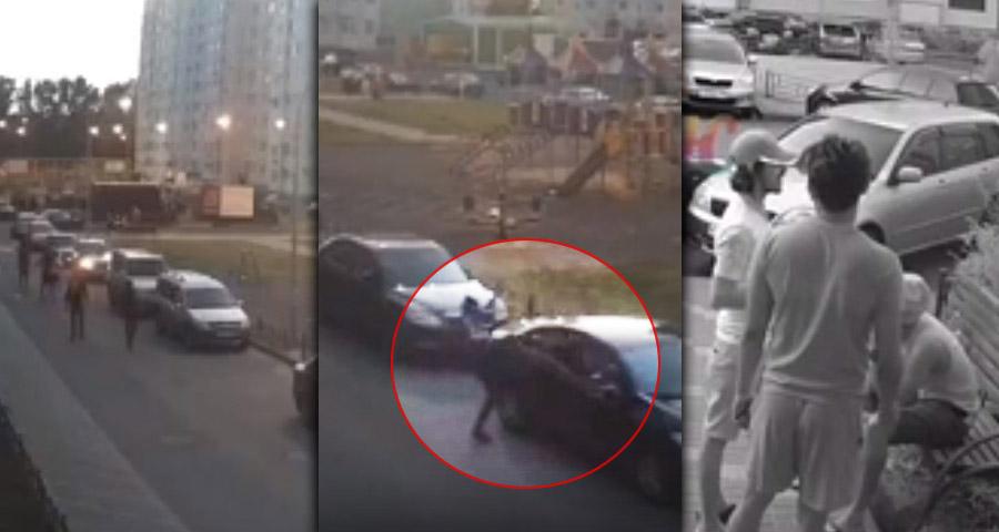 В Воронеже группа молодых людей повредила чужие автомобили