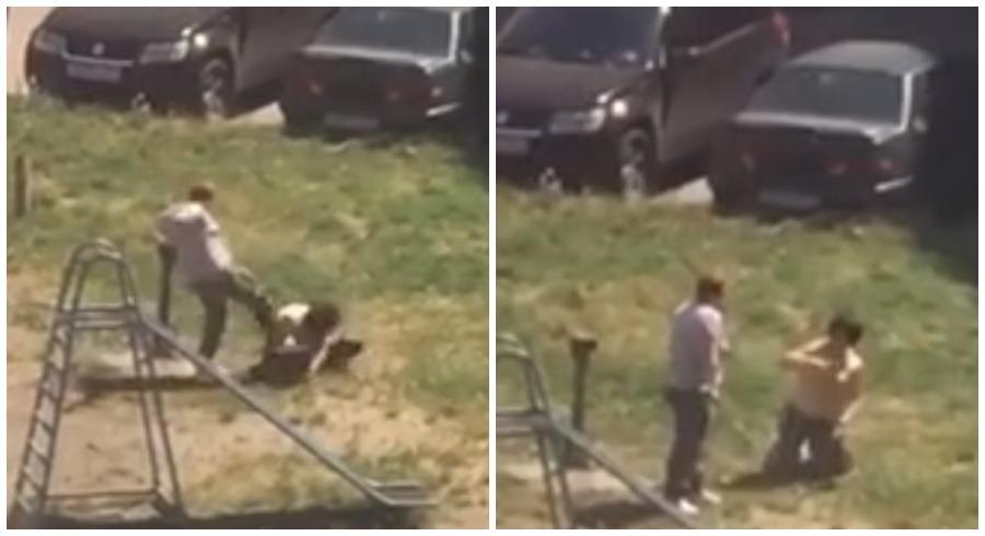В Брянске избиение женщины во дворе дома сняли на видео