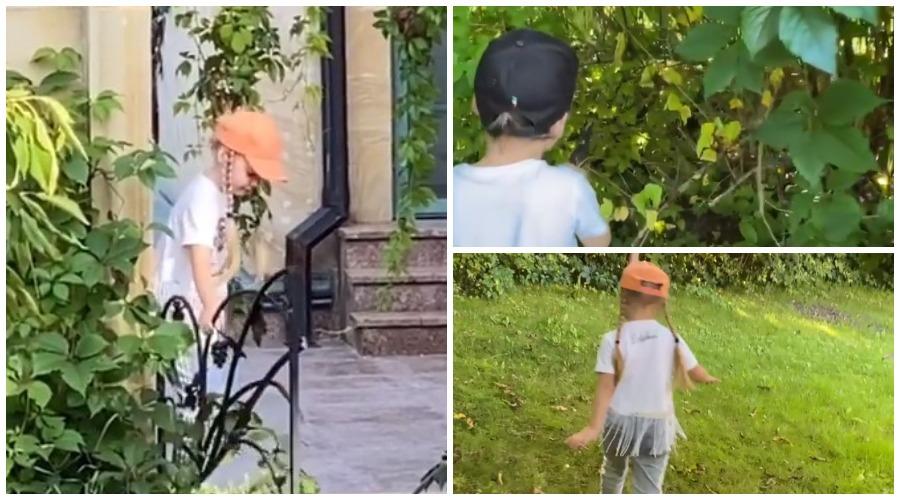 Алла Пугачева приучает детей к работе в саду и огороде
