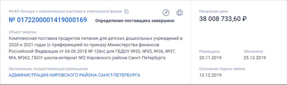 Участники картелей продолжают работать на рынке дошкольного питания Петербурга
