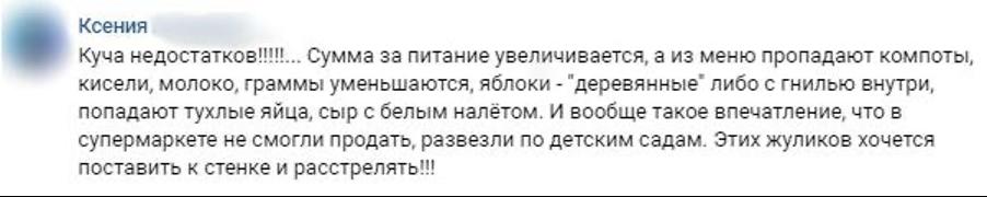 Петербуржцы жалуются на работу поставщиков питания для детских садов